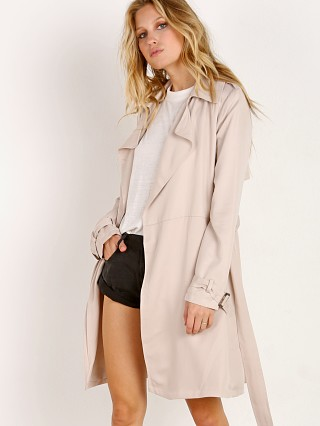BB Dakota Rocco Wrap Trench Coat Bone