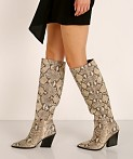 Dolce Vita Isobel Boot Black + White Snake, view 1