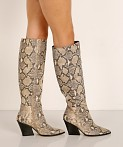 Dolce Vita Isobel Boot Black + White Snake, view 3
