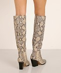 Dolce Vita Isobel Boot Black + White Snake, view 4