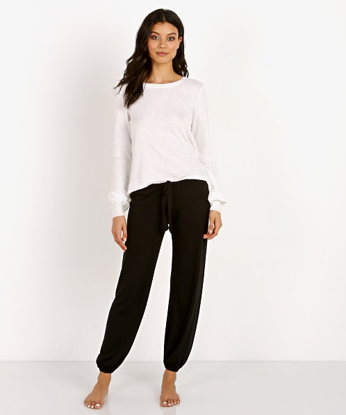 Eberjey Heather Cropped Pant Black