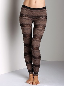 Free People Ruffle Legging Black and Tan