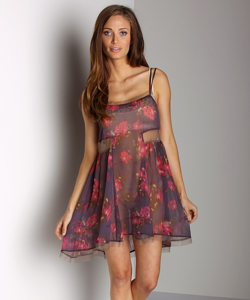 Free People Poppyfield Slip Aubergine