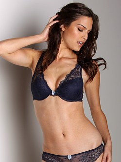 Blush Love Rush Push Up Bra Navy
