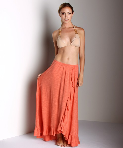 Free People Cascade Convertible Skirt Tangerine