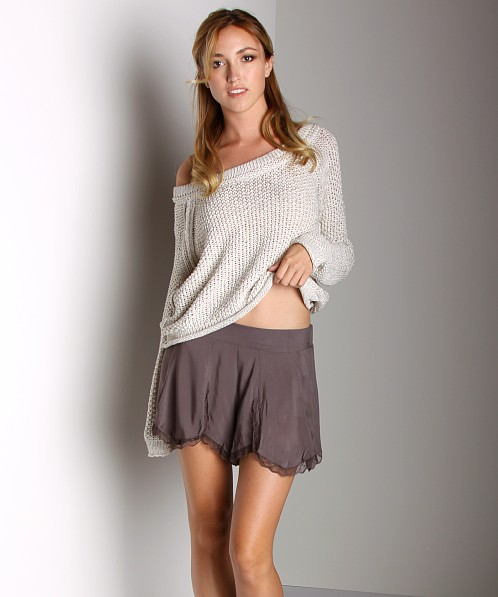 Free People Layering Petal Skort Toffee