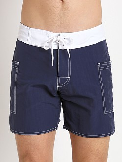 Sauvage Pocketed Board Shorts Navy/White