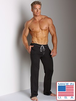Sauvage Low Rise Nylon/Lycra Workout Pant Black