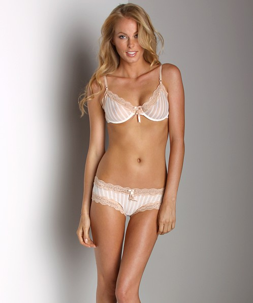 Elle Macpherson Intimates Sheer Ribbons Underwire Bra Coco