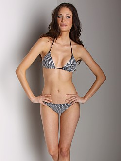 Tigerlily Pebbled Shore Bikini Back & White