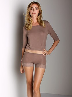 Only Hearts Feather Weight Waisted Tee Taupe
