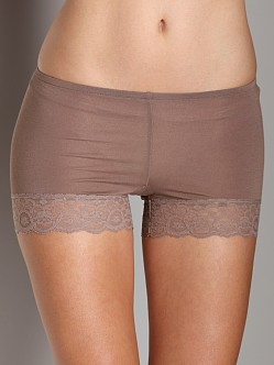 Only Hearts Lace Trim Bikini Brief Taupe