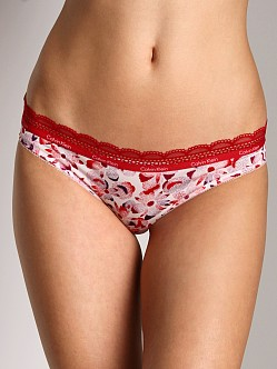 Calvin Klein Lace and Sheen Bikini Mia Print