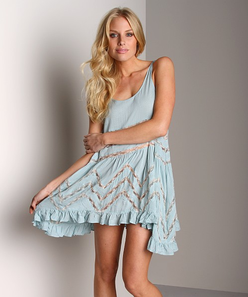 dd7bebfb60b5 Free People Voile Trapeze Slip Sky Combo F881M612 - Free Shipping at Largo  Drive