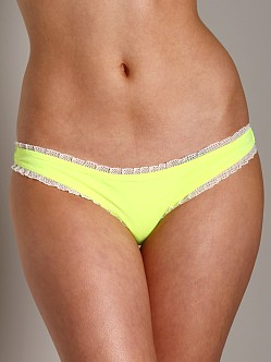 Undrest Ruffle Brazilian Bikini Bottom Highlighter