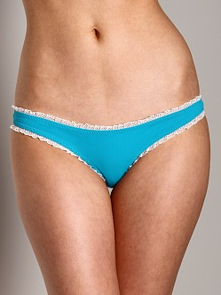 Undrest Ruffle Brazilian Bikini Bottom Electric Teal