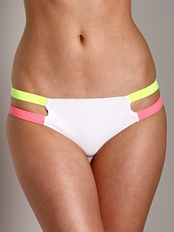 Undrest Rio Caged 2 Strapped Brief White