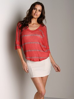 Splendid U Neck Dolman Top Cayenne