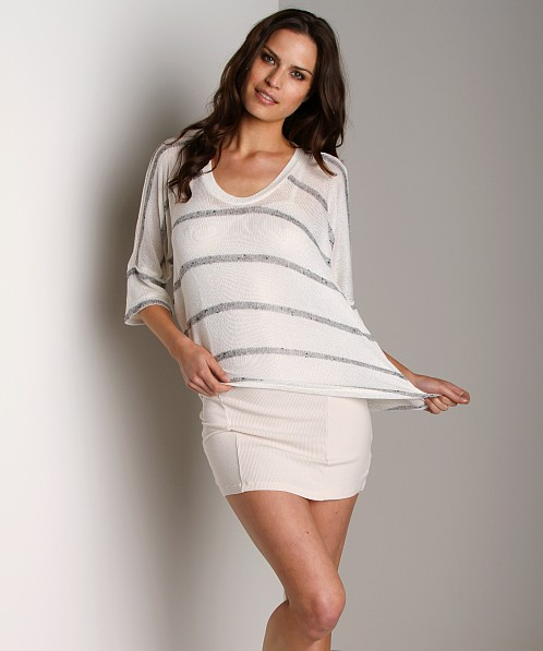 Splendid U Neck Dolman White