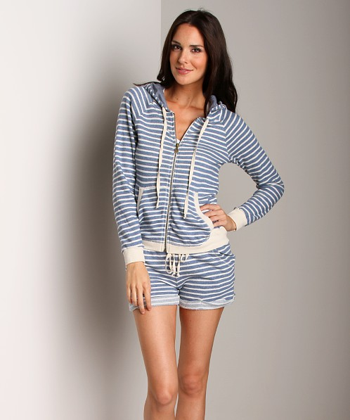 Splendid Zip Up With Tab Sleeves Chambray