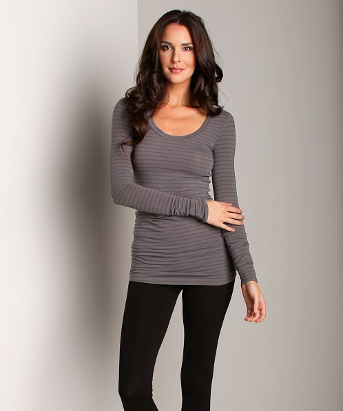 Splendid Stretch Layers Long Sleeve Top River Rock