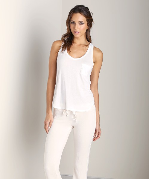 Splendid V-Neck Tank White