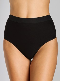 Nearly Nude Smoothing Cotton Thong Black