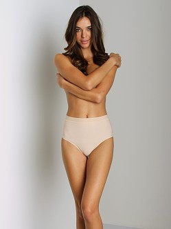 Nearly Nude Smoothing Cotton Thong Almond