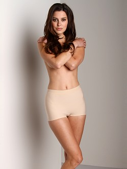 Nearly Nude Smoothing Cotton Boyshort Almond