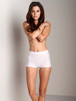 Nearly Nude Smoothing Cotton Boyshort White