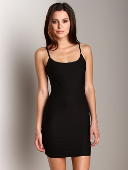 Nearly Nude Smoothing Cotton Slip Black