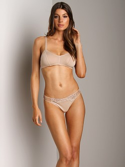 Only Hearts So Fine With Lace Bralette Caramel