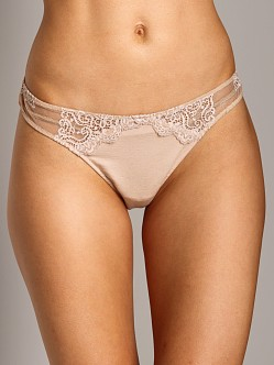 Only Hearts So Fine With Lace Thong Caramel