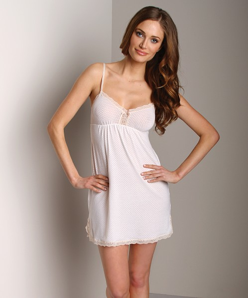 Eberjey Cotton Clouds Chemise White
