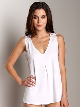 Only Hearts So Fine with Lace V-Shell Camisole White