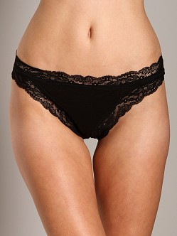 Only Hearts Organic Cotton Thong Black