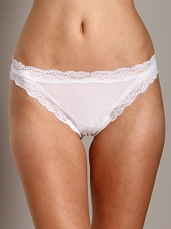 Only Hearts Organic Cotton Thong White