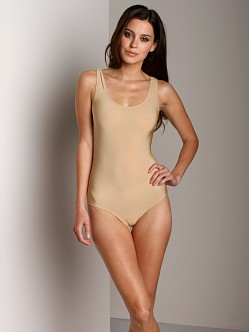 Only Hearts Second Skin Full Back Tank Bodysuit Nude