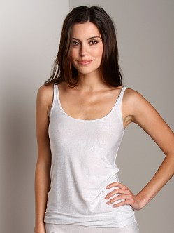 Only Hearts Metallic Jersey Skinny Tank White