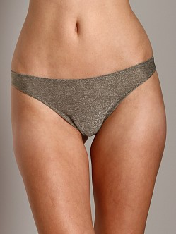 Only Hearts Metallic Jersey Thong Gold Stone