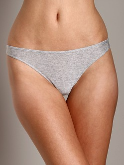 Only Hearts Metallic Jersey Thong Grey Stone