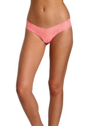 Hanky Panky Low Rise Thong Neon Coral