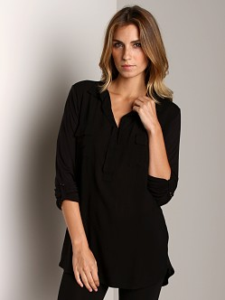 Splendid Shirting Long Sleeve Top Black