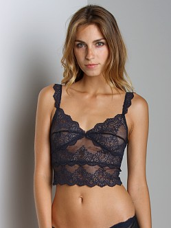 Only Hearts So Fine with Lace Cropped Cami Navy