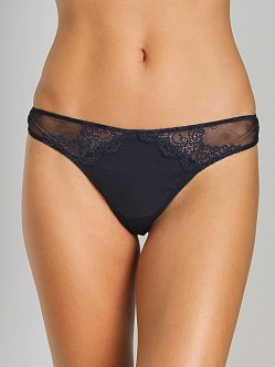 Only Hearts So Fine with Lace Thong Navy