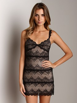Only Hearts So Fine with Lace Lace Front Chemise Black