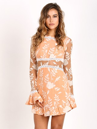 For Love & Lemons Mia Long Sleeve Dress Peach