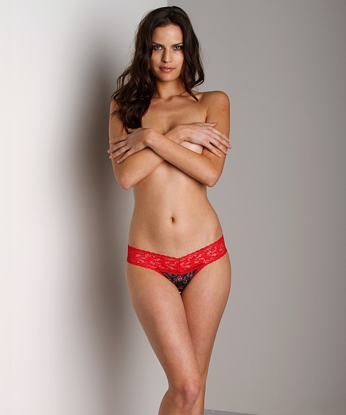 Hanky Panky Low Rise Thong Black/Red