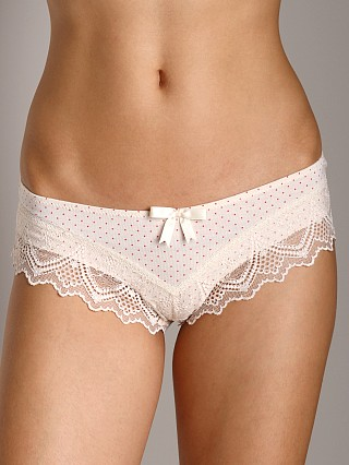 Eberjey Ruby Boyshort Brief Ivory/Red