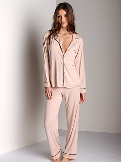 Eberjey Gisele PJ Set Blush/Black